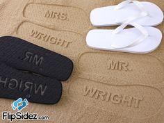 MR and MRS Bridal Flip Flops - Personalized Sand Imprint Flip Flops (listing is for ONE pair) *Check size chart before ordering* Character Meaning, Flip Flop Socks, Personalized Flip Flops, Bridal Flip Flops, Just Married, On Your Wedding Day, Flipping, Marie, Size Chart