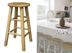 67 Furniture Makeovers That'll Totally Inspire You: Stool makeover via Cuckoo 4 Design
