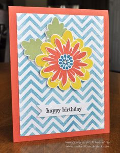 Birthday Card; Stampin Up; Flower Patch; www.cardcreationsbybeth.com