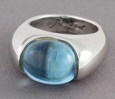 Baccarat Silver Crystal Ring