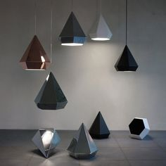 Diamond Pedant Lamp by Sebastian Scherer