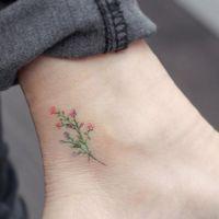 Subtle tattoo by Mini Lau. subtle microtattoo pastel southkorean feminine girly tiny flower MiniLau