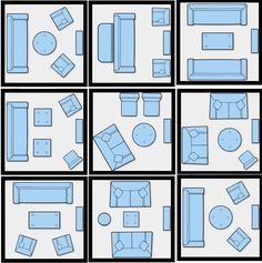 Furniture Arranging Tricks And Diagrams To Revive Your Home. There are many possibilities for arranging a small living room with just 5 pieces of furniture or less. [ Read More at http://homesthetics.net/furniture-arranging-tricks-diagrams-revive-home/ © Homesthetics - Inspiring ideas for your home.]