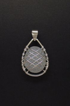 240 Beginner DIY Jewelry Tutorials - Sea Glass Jewelry – Sterling Caged Large White Sea Glass Pendant More - Wire Pendant, Wire Wrapped Pendant, Wire Wrapped Jewelry, Pendant Jewelry, Sterling Jewelry, Pandora Jewelry, Sterling Silver, Sea Glass Jewelry, Metal Jewelry