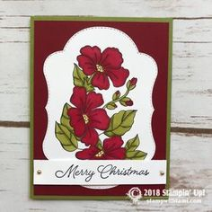 CARD Here is an incredible and beautiful card from the new Stampin' Up! Blended Season bundle that is available this month. The top layer die cut from the Holiday Cards, Christmas Cards, Christmas 2017, Stampin Up Catalog, Wish You The Best, Card Patterns, Winter Cards, Card Making Inspiration, Season Colors
