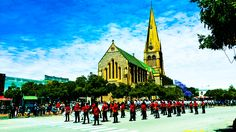 Remembrance Day parade, Church Square, Grahamstown. 8 November 2015 Remembrance Day, November 2015, Cool Photos, Dresses, Vestidos, Anniversaries, Dress, Gown, Outfits