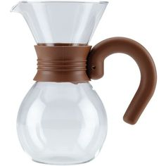 Bonjour Coffee Pour-Over Brewer and Pitcher ($34) ❤ liked on Polyvore featuring home, kitchen & dining, serveware, glass mocha and coffee pitcher