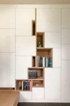 """With the popularity of bookshelves in the design, bookshelves have gradually become a display design for putting decorations and decorating the space mood. More and more families choose to install """"bookshelves"""" in the decoration process. Interior Architecture, Interior And Exterior, Interior Design, Room Interior, Home Furniture, Furniture Design, Modern Furniture, Luxury Furniture, Cabinet Design"""