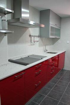 good with cocina roja y blanca - Cocinas Rojas Y Blancas