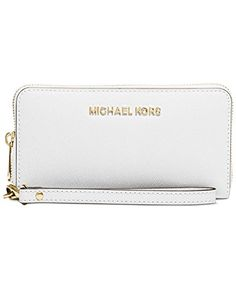 Michael Kors Saffiano Leather Jet Set Travel Flat Multifunction Wallet Optic White >>> Find out more about the great product at the image link.