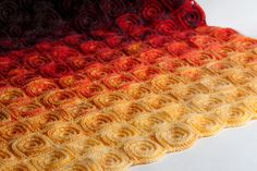 Fire Blanket with Patons North America Lace Fingering weight yarn