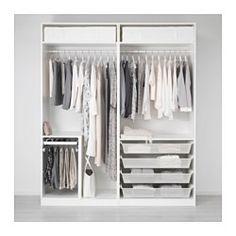 IKEA PAX wardrobe with sliding mirror doors Ikea Pax Wardrobe, Ikea Closet, Diy Wardrobe, Modern Wardrobe, Bedroom Wardrobe, Wardrobe Design, Closet Space, Minimal Wardrobe, Ikea Fitted Wardrobes