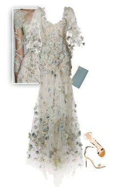 """Blooming Bodice"" by hollowpoint-smile ❤ liked on Polyvore featuring Valextra, Marchesa and Gianvito Rossi"
