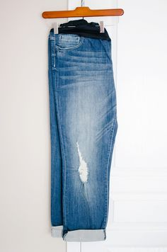 """Kut from the Kloth """"Kate Maternity Distressed Boyfriend Jean"""" – Would need a size 4 I think since they run a little big"""