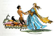 Queen Susan & Tumnus after figuring out a viable plan to sneak out of Tashbaan. The Horse and His Boy from the Chronicles of Narnia Cair Paravel, Narnia 3, Spiderwick, Prince Caspian, Chronicles Of Narnia, Cs Lewis, Tolkien, Illustration Art, Book Illustrations