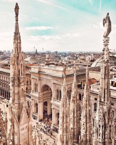 Galleria Vittorio Emanuele II seen from Duomo, Milan Places Around The World, Oh The Places You'll Go, Places To Travel, Travel Destinations, Places To Visit, Around The Worlds, Milan Travel, Little Paris, Roadtrip