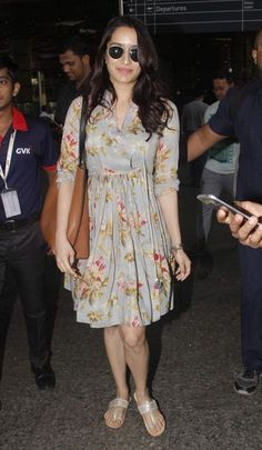 Shraddha Kapoor in a Pero dress. Western Outfits Women, Western Dresses, Cowgirl Outfits, Bollywood Outfits, Bollywood Fashion, Dress Indian Style, Indian Outfits, Frock Fashion, Fashion Dresses