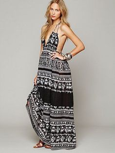 FP Endless Summer Printed Triangle Top Maxi (Black & White Combo)