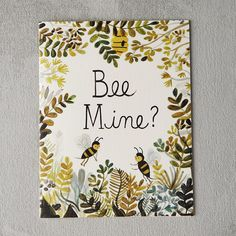"""Buzzing bees top this honey-sweet Valentine greeting from Quill & Fox.- Cotton cardstock- Blank inside- USA5.5""""H, 4.25""""W"""