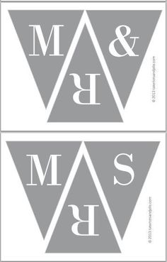"wedding printables for a ""mr & mrs"" to hold for pictures"