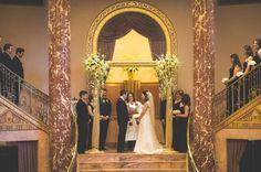 Elegant Modern Jewish Wedding at Severance Hall//chuppah ceremony