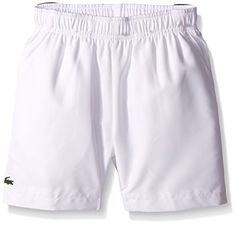 Lacoste Big Boys Sport Taffeta Tennis Short, White/Navy Blue/Royal Blue, 16 -- Want additional info? Click on the image.
