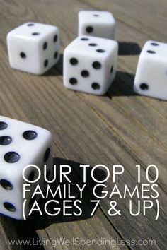 Need a few new ideas for family game night or some surefire-hit Christmas gift ideas?  Don't miss this awesome review of ten wonderful family games that are fun for kids (ages 7 and up) AND adults.  Includes details on each games with ratings by both kids