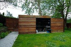Modern Garden Shed Design Small Cabin Shed Plans . Man Cave Shed Plans, Garbage Shed, Pool Shed, Shed Blueprints, Yard Sheds, Cheap Sheds, Modern Shed, Modern Garage, Wooden Sheds