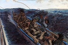 'Off the Donegal Coast', Jack Yeats Colorful Drawings, Art Drawings, Jack B, Irish Art, Donegal, Famous Artists, Contemporary Paintings, Prehistoric, Celtic