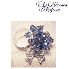 anello regolabile con perline e fiocco  https://www.facebook.com/le.arcarabijoux