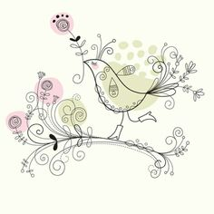 Bird & rose. (by Elena Lishanskaya)