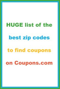 How to change your zip code and the best zip codes for Coupons.com
