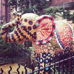 One of the many painted elephants in town DuPont Circle Art , DC