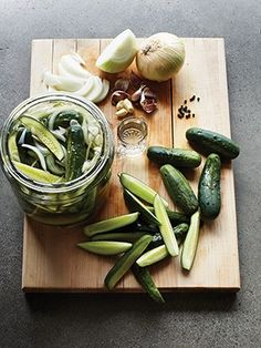 Hilda's Icebox Pickles. Recipe Courtesy of Chef Steven Satterfield of Miller Union, Atlanta, Georgia. Photo by Jennifer Davick.
