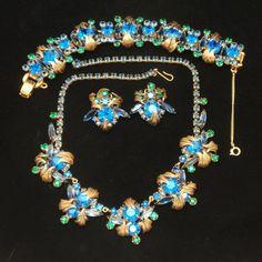 Juliana Parure Vintage D&E Necklace Bracelet Earrings Set