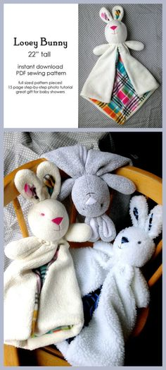 Wonderful Image of Blanket Sewing Patterns Diy Blanket Sewing Patterns Diy Bunny Lovey Ba Blanket Security Blanket Sewing Pattern Pdf baby blanket baby clothes baby projects baby stuff baby toys Baby Sewing Projects, Sewing Tutorials, Sewing Patterns, Bunny Blanket, Lovey Blanket, Baby Security Blanket, Crochet Security Blanket, Baby Lovey, Sewing Toys