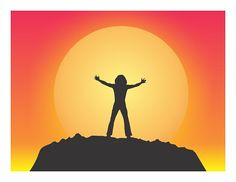 """Tommy Greets the Sun,"" sunrise graphic illustration inspired by The Who's film ""Tommy"""