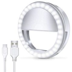 JION 14-Inch Self-Timer Ring Light with Tripod Stand and Phone Holder for Live//Makeup Mini Led Camera Ring Light for YouTube Video//Photography Compatible with iPhone Xs Max Xr Android