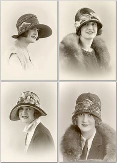 1920s Hat Fashion Millinery Flappers Lot of 4 Photos | eBay