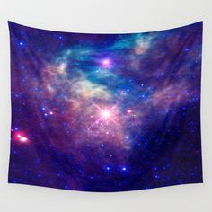 Galaxy stars Wall Tapestry by Laureenr