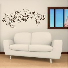 Free Patterns Wall Art | Modern Flower Floral Pattern Wall ART Decal Sticker FL6 | eBay