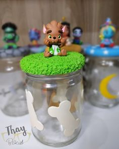 Snow Globes, Birthdays, Crystals, Party, Food, Baby Boy Shower, Decorated Jars, Character, Kids Part