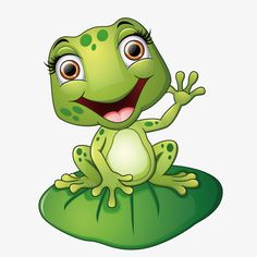 frog art projects for kids - Cartoon frog sitting on the leaf vector image on Art Drawings For Kids, Animal Drawings, Cute Drawings, Funny Frogs, Cute Frogs, Clip Art, Frosch Illustration, Frog Sitting, Frog Drawing