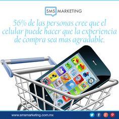 #SabiasQue 56% de las personas cree que el celular puede hacer que la experiencia de compra sea mas agradable.