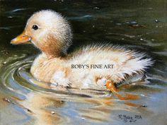 Duckling - Realism by robybaer.deviantart.com on @deviantART