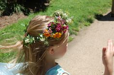 So beautiful and magical for a summer or spring event. Kids can't get enough of the natural beauty. Try a spray of similar wildflowers for a buttoner or a use more foliage for a boys crown. Cool Color Palette, Kids Dress Up, Dress Up Costumes, Wildflowers, Flower Crown, Envy, Natural Beauty, Cabin