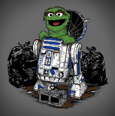 Oscar the Grouch and R2-D2