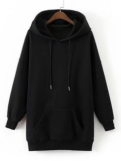 SheIn offers Kangaroo Pocket Longline Hoodie & more to fit your fashionable needs. Teen Fashion Outfits, Mode Outfits, Hoodie Outfit, Sweater Hoodie, Trendy Hoodies, Kawaii Clothes, Cute Casual Outfits, Aesthetic Clothes, Hooded Sweatshirts