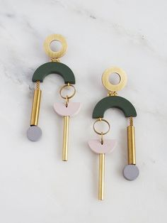 Collage Earrings by Wolf & Moon