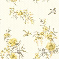 Amaya Grey & Yellow wallpaper by Holden Decor
